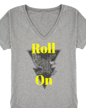 Roll On Graphic V-Neck T-Shirt | S-2XL
