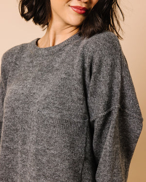 Halle Hi-Low Heathered Sweater | S-XL