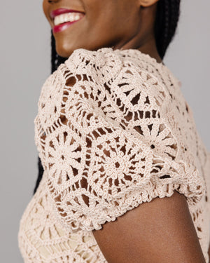 Amaya Geometric Lace Top | S-L
