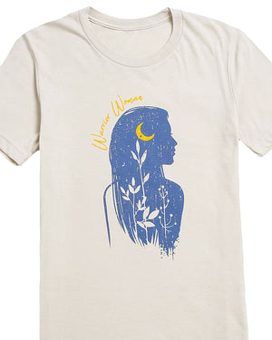 Warrior Woman Silhouette Graphic T-Shirt | S-3XL