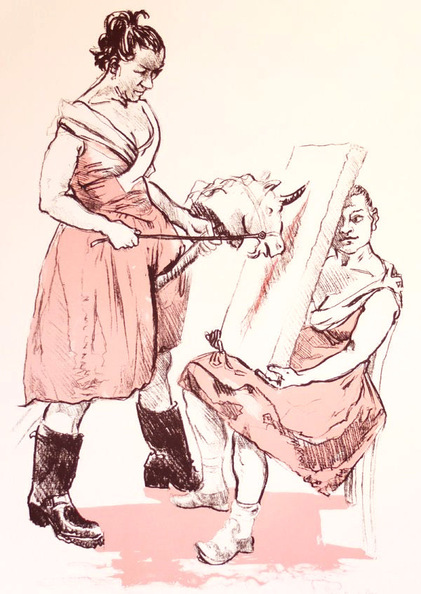 'The Unicorn Artist' by Paula Rego, Lithograph (2008)