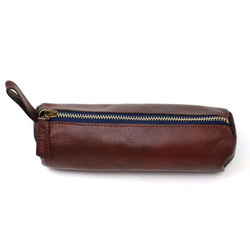 Artway Indigo Doodle Soft Leather Pencil Case