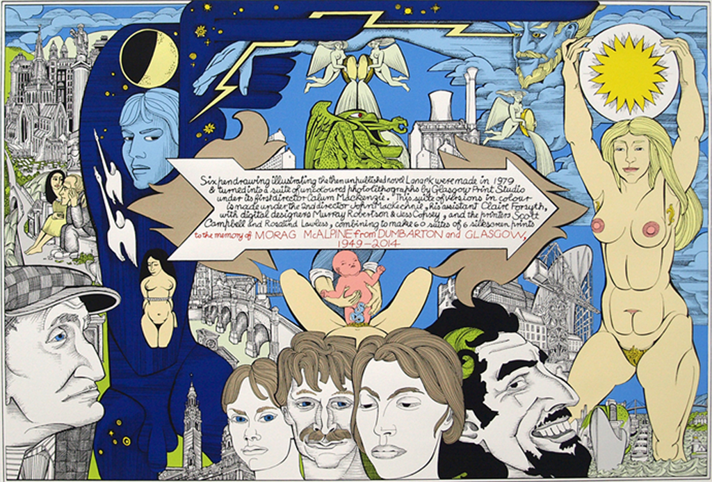 ALASDAIR GRAY - Lanark (Book Jacket)