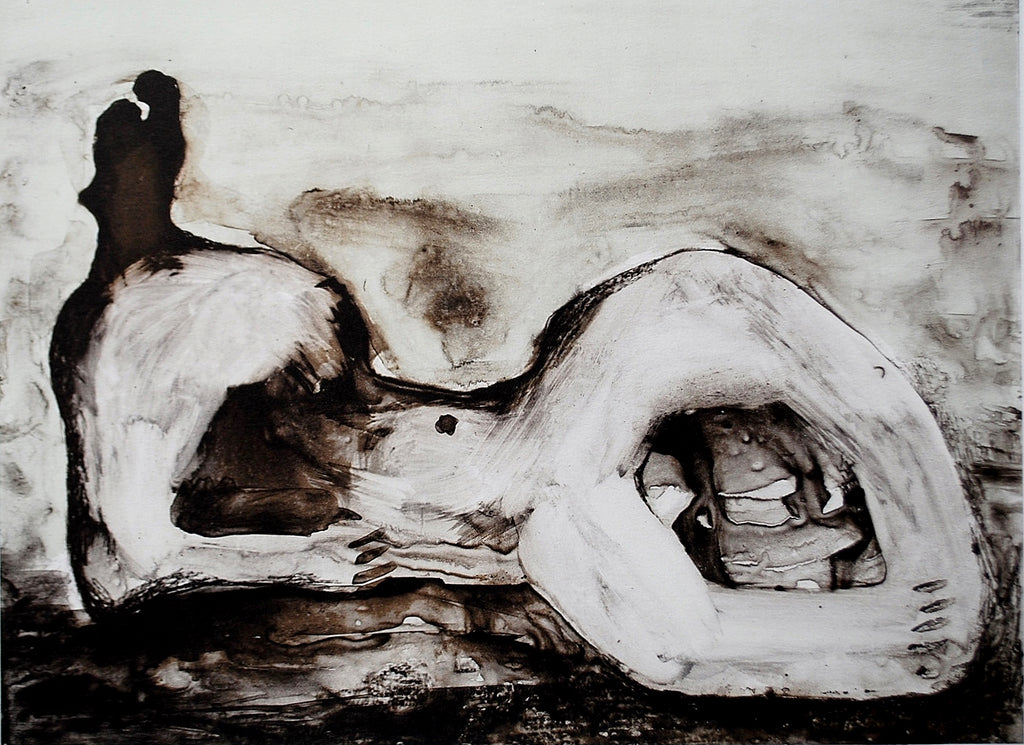 HENRY MOORE - Reclining Figure Cave