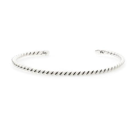 Twirl Bangle Silver (twist)