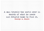 Love You Greetings Waiting Card Inside Message George A Moore Quote Visit us at LoveYouGreetings.com Cards for All Occasions