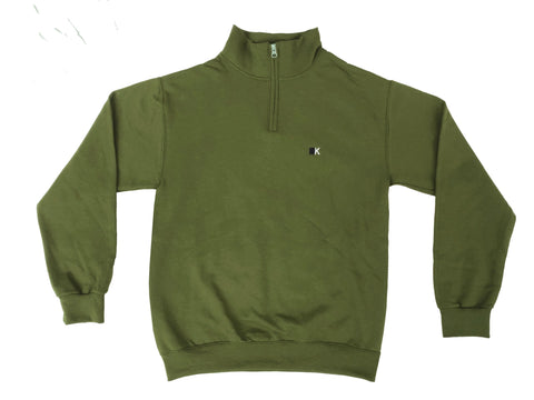 Military Green KITC Winter Quarterzip