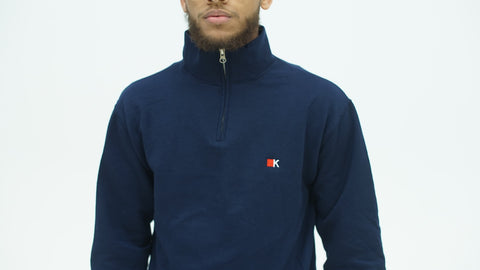 Navy K Logo Quarter Zip