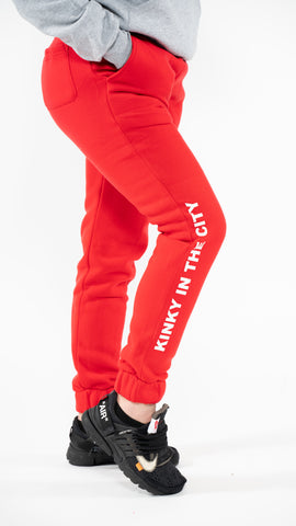 Red Essential Cozy Sweatpants