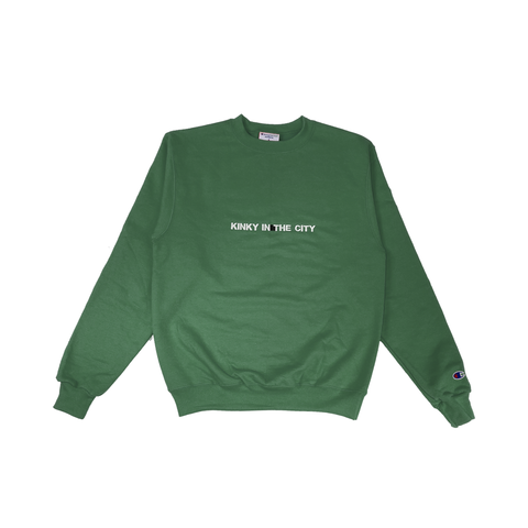 Forest Green Kinky Champion Eco Crewneck