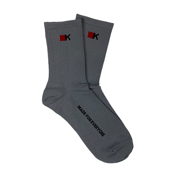 "Gray ""Made For Everyone"" Socks"