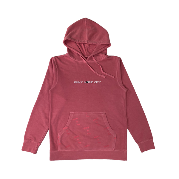 Cherry Pink Dyed Hoodie