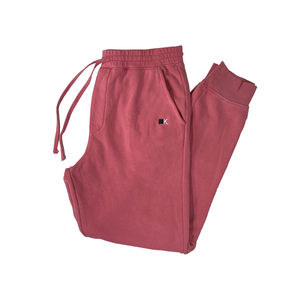 Cherry Pink Dyed Joggers