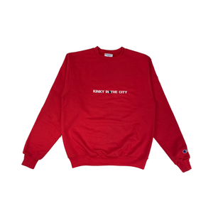 Red Kinky Champion Eco Crewneck