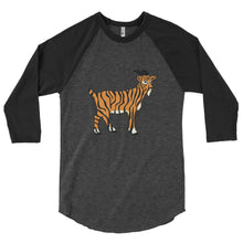 Load image into Gallery viewer, Tiger Goat - 3/4 sleeve raglan shirt