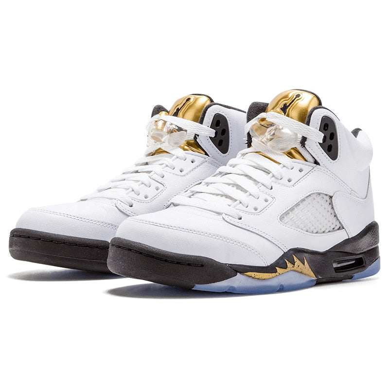 new product b3cac a59dd ... Nike Air Jordan 5 Retro Olympic Joe 5 Olympic Gold Medal In Men s  Basketball Shoes ...