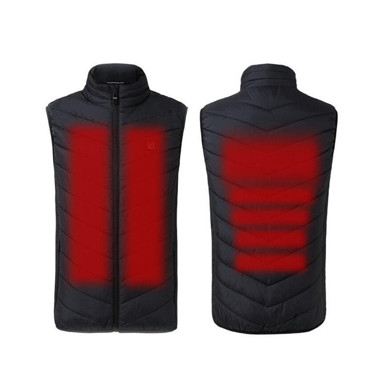 USB Heated Vest Men And Women Coat Feather Thermal Heated Jacket Winter Fishing Vest Tactical Usb Vest Outdoor Heated Vest +size