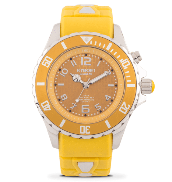 KYBOE! 40 mm Spicy Mustard Watch