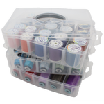 Large Clear Thread Storage (3 layers + lid) ~ AVAILABLE JUNE 1, 2019