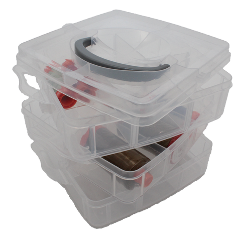 Medium Clear Thread Storage (3 layers + lid) ~ AVAILABLE JUNE 1, 2019