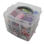 Medium Clear Thread Storage (3 layers + lid)