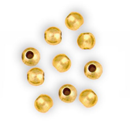 French Brass Beads 6 mm