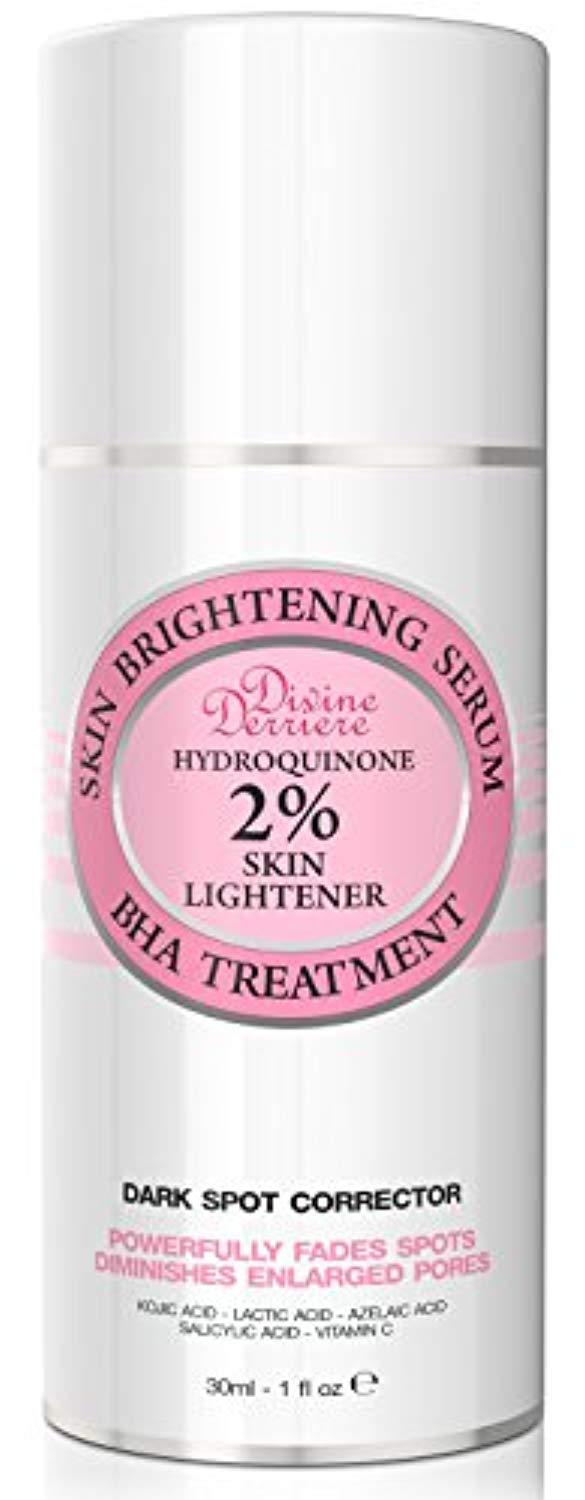 Divine Derriere Skin Lightening 2% Hydroquinone Dark Spot Corrector For Face & Melasma Treatment Fade Cream - Contains Vitamin C, Salicylic Acid,...