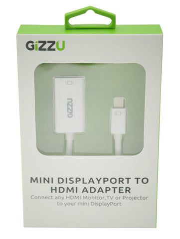 GIZZU Mini Display Port to HDMI Adapter White