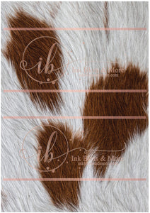 Brown Cow Hide-I
