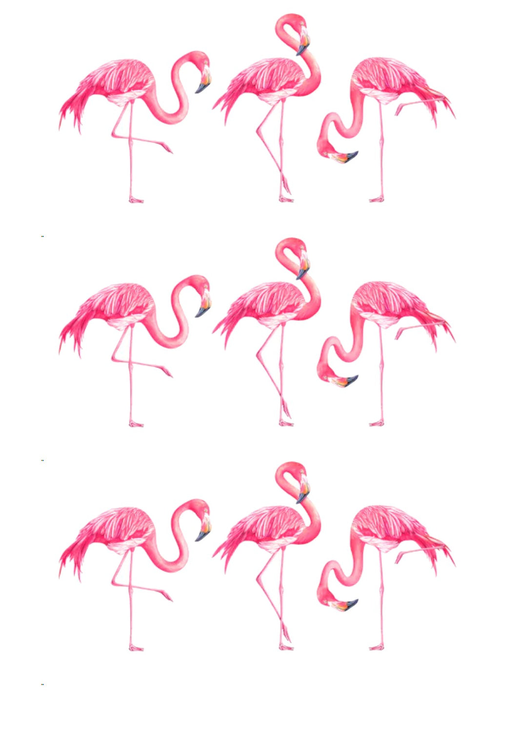 Flamingo Trio-Watercolor