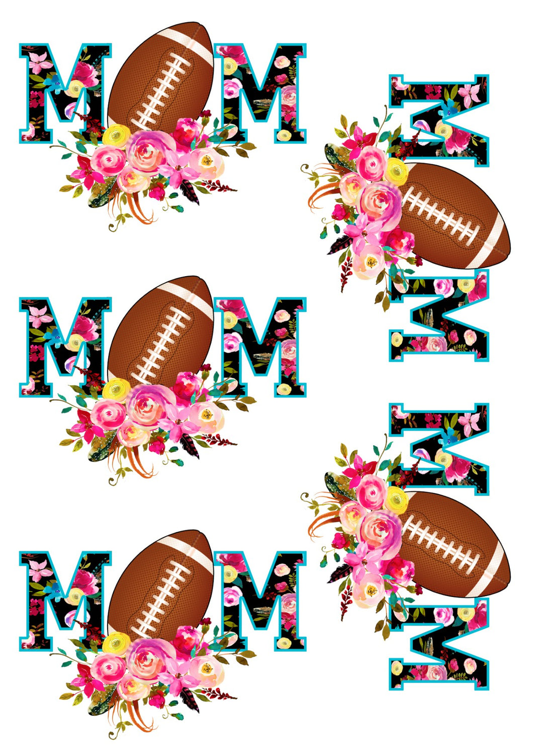 Floral Football Mom