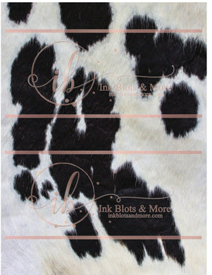 Black & White Cow Hide-E