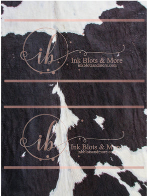 Black & White Cow Hide-G