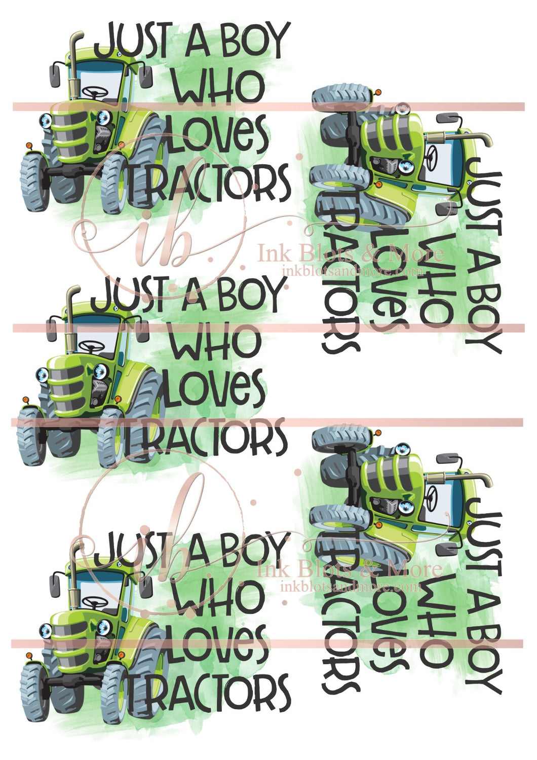 Just A Boy Who Loves Tractors