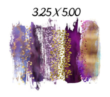 Load image into Gallery viewer, Purple & Gold Cheetah Name Label