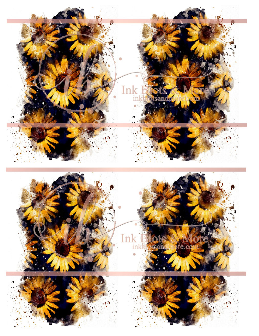 Sunflower Name Label