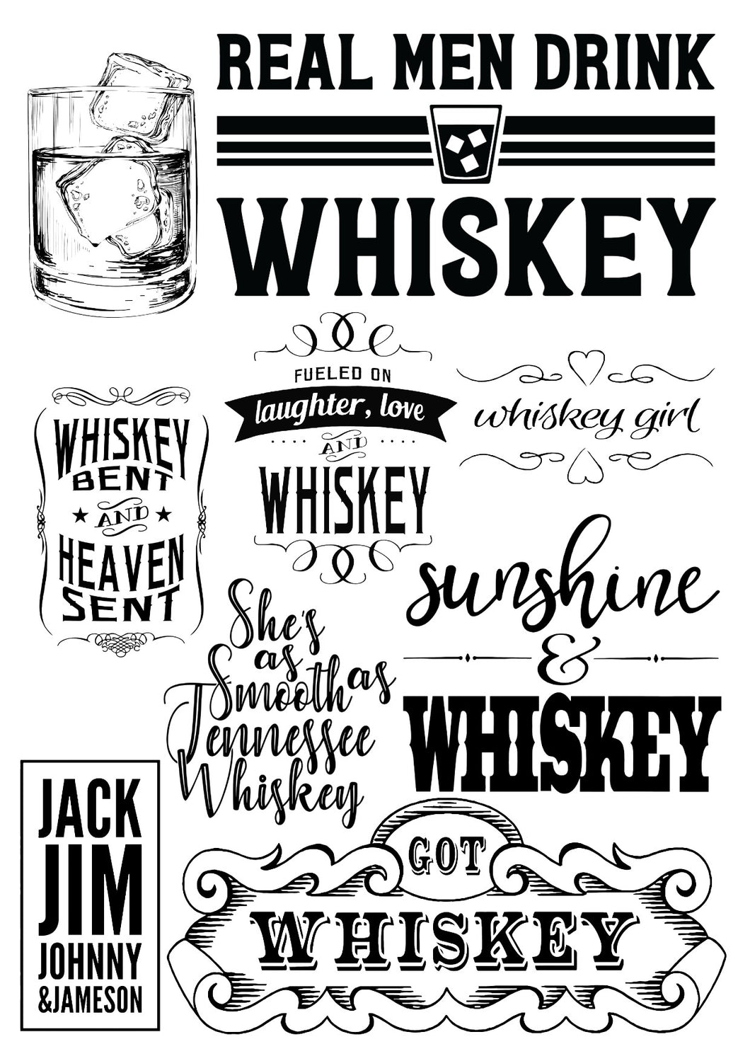 Real Men Drink Whiskey