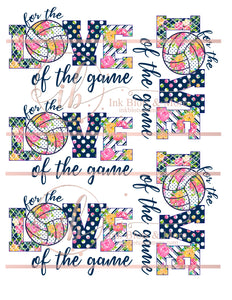 Love of the Game-Volleyball