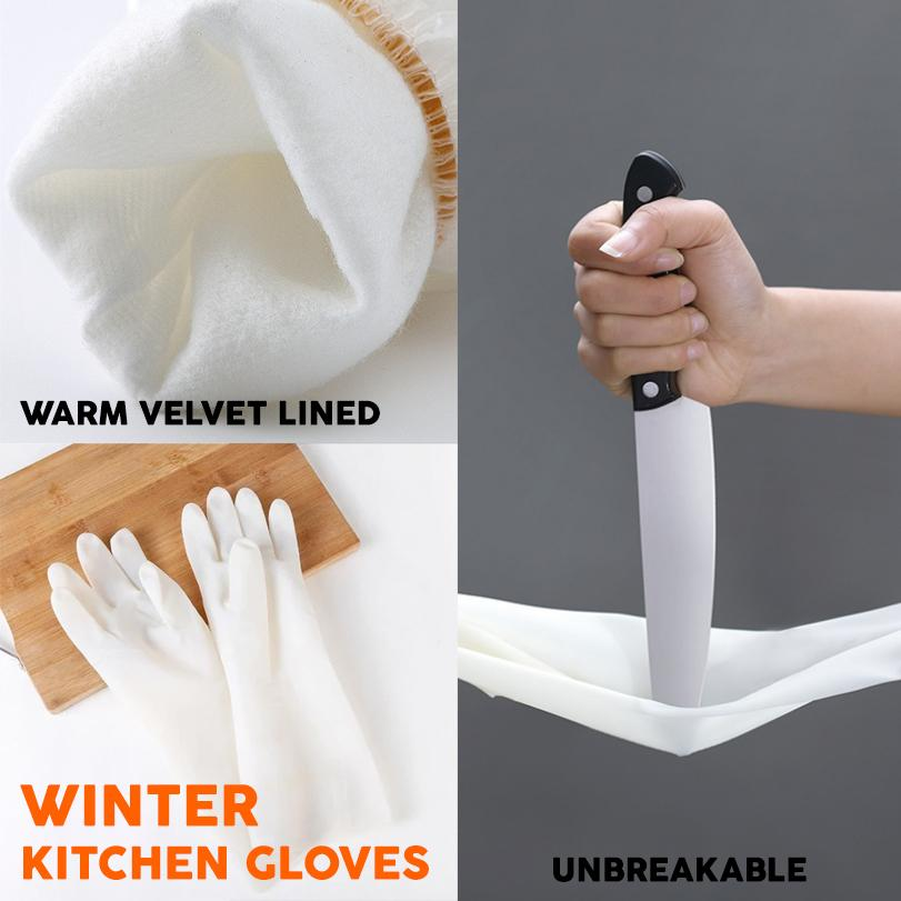 Durable Velvet Kitchen Gloves