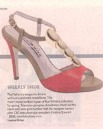 Toronto Star - February 27, 2013  Shoe of the Week - Nellie Tangerine
