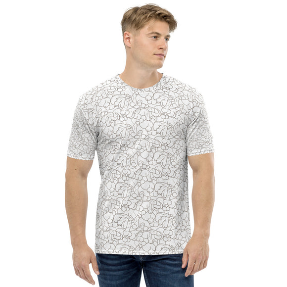 DICOLLAGE All over print Men's T-shirt-White
