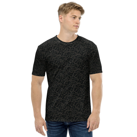DICOLLAGE All Over Print Men's T-shirt-Black