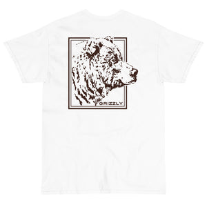 Grizzly Back Print Extended Size Short Sleeve T-Shirt - Two on 3rd