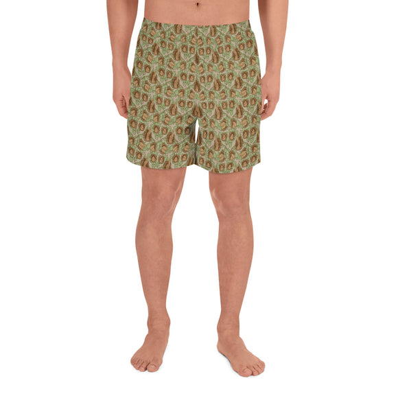 Pollinate All-Over Print Men's Athletic Long Shorts - Two on 3rd