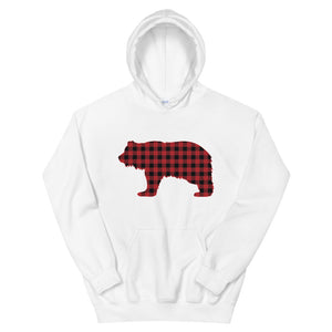 FLANNEL GRIZZLY RED Hoodie - Two on 3rd