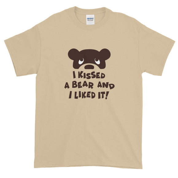 I KISSED A BEAR Short-Sleeve T-Shirt