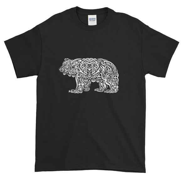 White Grizzly Tribal Extended Size Short-Sleeve T-Shirt