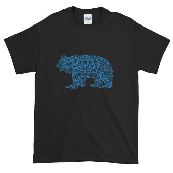 Blue Grizzly Tribal Extended Size Short-Sleeve T-Shirt - Two on 3rd