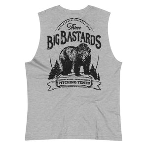 BIG BASTARDS Back Print Muscle Shirt - Two on 3rd