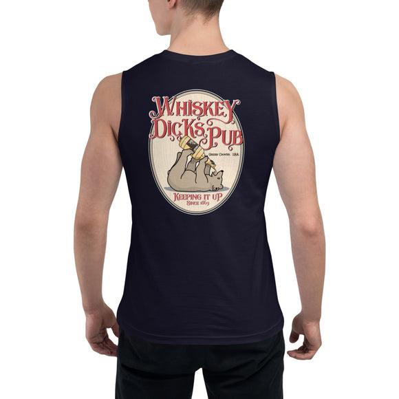 WHISKEY DICKS PUB BACK PRINT - Muscle Shirt - Two on 3rd